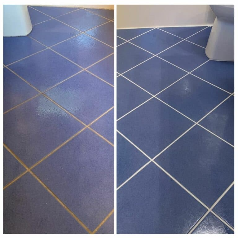 Before and After Tile Cleaning Mesa